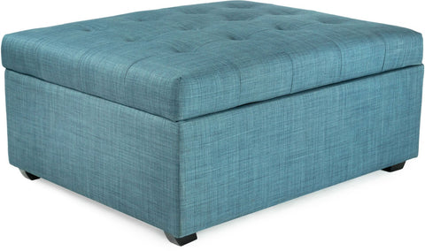 iBED PC333 iBED Convertible Ottoman Guest Bed in Blue Fabric
