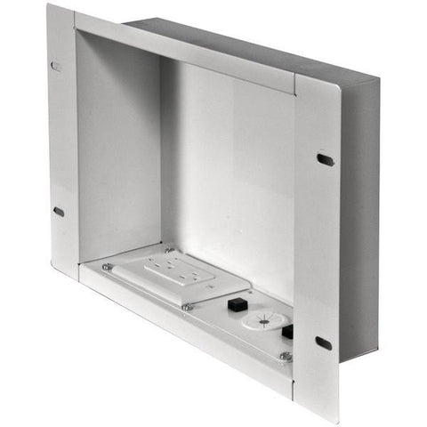 Peerless-AV IBA2AC-W In-Wall Metal Box with Knockout (With Power Outlet) - Peazz.com