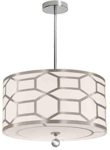Dainolite PEM-194P-PC-WG 4LT Pendant, Winter Gold