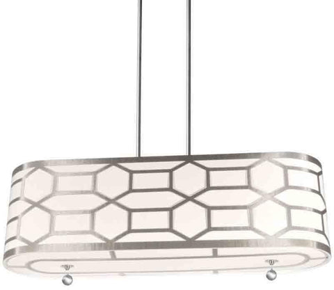 Dainolite PEM-344HP-PC-WG 4LT Pendant, Winter Gold