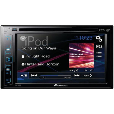 "Pioneer AVH-180DVD 6.2"" Double-DIN In-Dash DVD Receiver - Peazz.com"