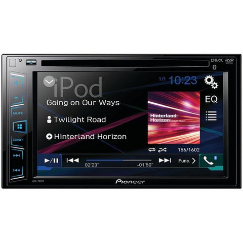 "Pioneer AVH-280BT 6.2"" Double-DIN In-Dash DVD Receiver with Bluetooth - Peazz.com"