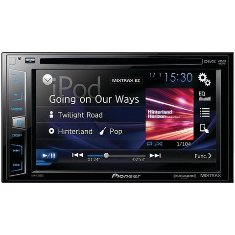 "Pioneer AVH-X1800S 6.2"" Double-DIN In-Dash DVD Receiver with Siri Eyes Free, SiriusXM Ready, Spotify & AppRadio One - Peazz.com"