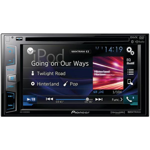"Pioneer AVH-X2800BS 6.2"" Double-DIN In-Dash DVD Receiver with Bluetooth, Siri Eyes Free, SiriusXM Ready, Spotify & AppRadio One - Peazz.com"