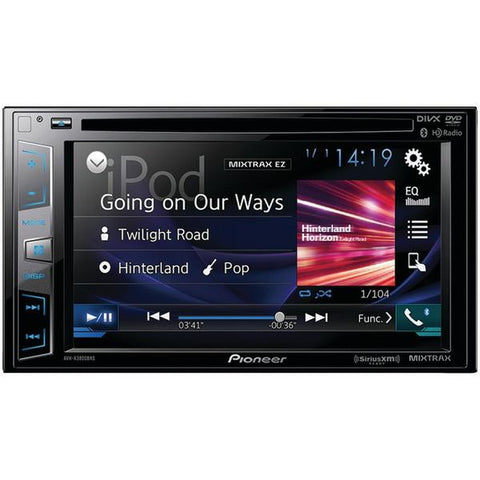 "Pioneer AVH-X3800BHS 6.2"" Double-DIN In-Dash DVD Receiver with Bluetooth, Siri Eyes Free, SiriusXM Ready, HD Radio, Spotify, AppRadio One & Dual Camera Input - Peazz.com"