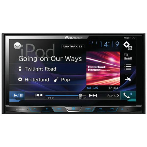 "Pioneer AVH-X4800BS 7"" Double-DIN In-Dash DVD Receiver with Motorized Display, Bluetooth & SiriusXM Ready - Peazz.com"