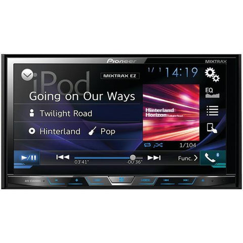 "Pioneer AVH-X5800BHS 7"" Double-DIN In-Dash DVD Receiver with Motorized Display, Bluetooth, Siri Eyes Free, SiriusXM Ready, HD Radio, Spotify, AppRadio One & Dual Camera Inputs - Peazz.com"