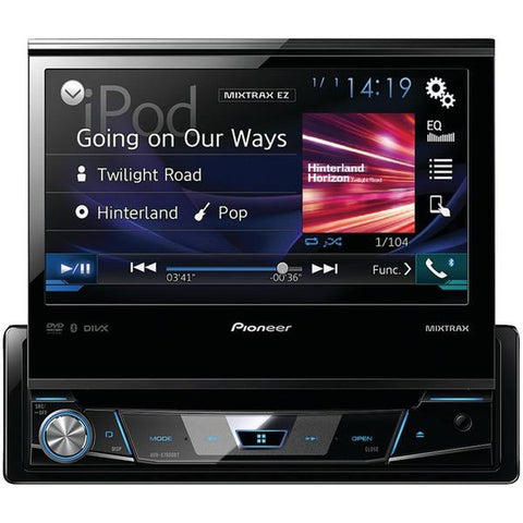 "Pioneer AVH-X7800BT 7"" Single-DIN In-Dash DVD Receiver with Flip-out Display, Bluetooth, Siri Eyes Free, Spotify & AppRadio One - Peazz.com"