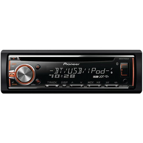 Pioneer DEH-X6800BT Single-Din In-Dash CD Receiver with MIXTRAX, Bluetooth, Siri Eyes Free, USB, Pandora Internet Radio Ready, Android Music Support with AOA 2.0 & Color Customization - Peazz.com