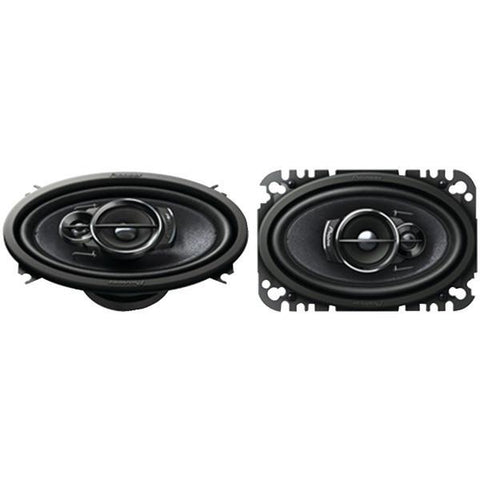 "Pioneer TS-A4676R A-Series 4"" x 6"" 200-Watt 3-Way Speakers - Peazz.com"