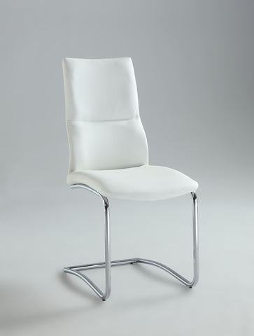 Chintaly PIPER-SC-WHT Cantilever Curved Back Side Chair ( Set of 2 )