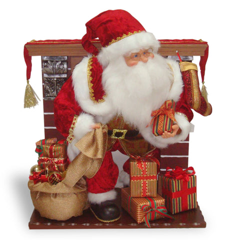 "National Tree PL27-CH1427M 28"" Fireplace with Animated Santa"