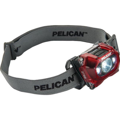 Pelican 027600-0101-170 133-Lumen 2760 LED Headlamp (Red) - Peazz.com