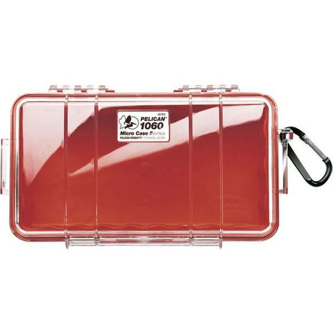Pelican 1060-028-100 1060 Micro Case (Red/Clear) - Peazz.com