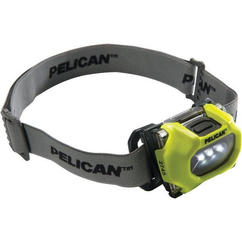 Pelican 027450-0100-245 33-Lumen 2745 Safety-Approved 3-Mode LED Headlamp (Yellow) - Peazz.com