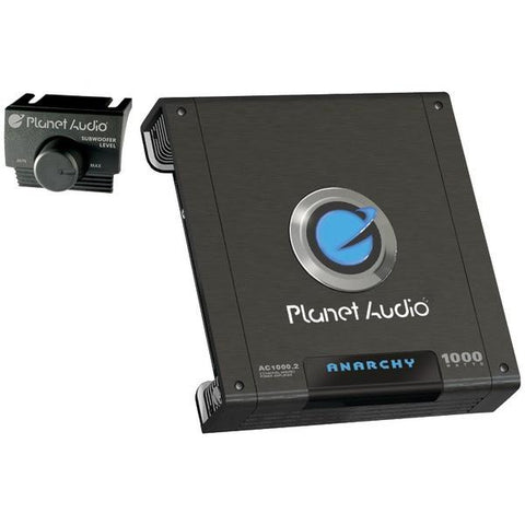 Planet Audio AC1000.2 ANARCHY Full-Range MOSFET Class AB Amp (2 Channels, 1,000 Watts Max) - Peazz.com