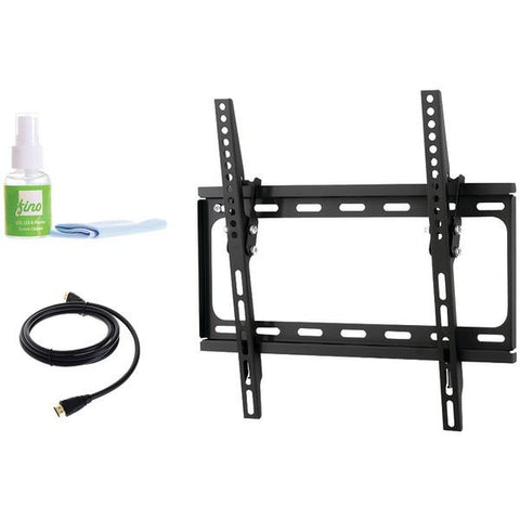 "FinoAV FT44k2 24""–55"" Medium Tilt Mount with HDMI Cable & Screen Cleaner - Peazz.com"