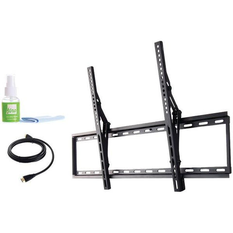 "FinoAV FT84k2 42""–80"" Extra Large Tilt Mount with HDMI Cable & Screen Cleaner - Peazz.com"
