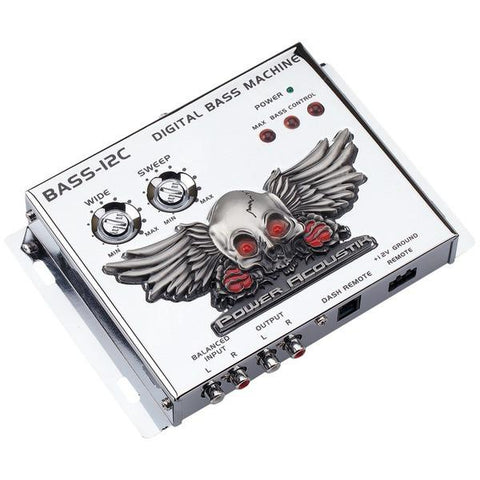 Power Acoustik BASS-12C Digital Bass Machine with Chrome Finish & Subsonic Filter - Peazz.com