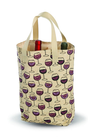 Picnic Plus PSM-822WG Wine Glass Double Bottle Bag Wine Glass Finish