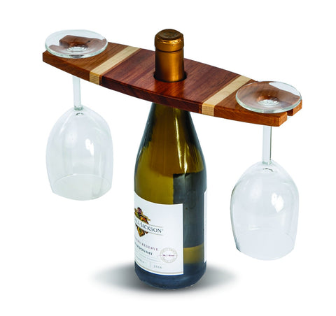 Picnic Plus PSU-609C Wine Glass Caddy Cherry Finish