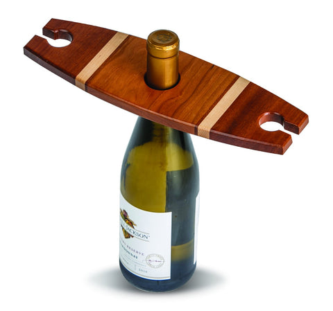 Picnic Plus PSU-609W Wine Glass Caddy Walnut Finish