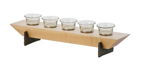 Picnic Plus PSU-635M Village Five Votive Set Maple Finish