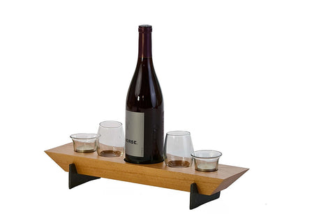 Picnic Plus PSU-656C Village Combo Five Wine & Votive Set Cherry Finish