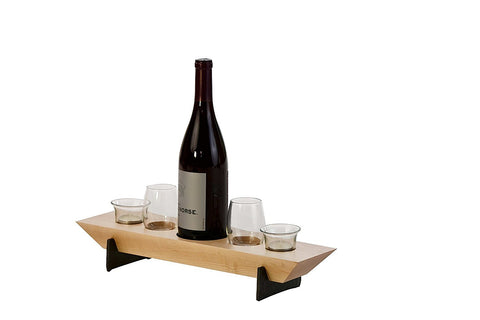 Picnic Plus PSU-656M Village Combo Five Wine & Votive Set Maple Finish