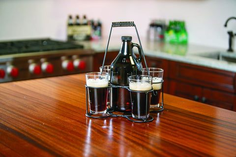 Picnic Plus PSU-685 Cheers Growler Carrier set USA Black Finish