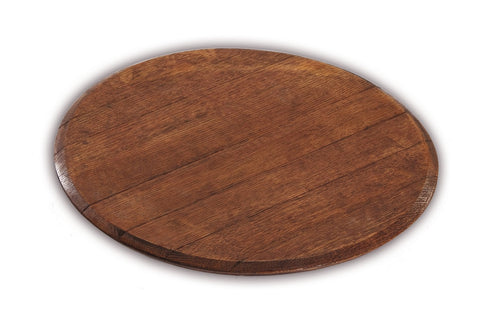 Picnic Plus PSU-740 Wine Barrel Lazy Susan Wine Barrel Staves Finish