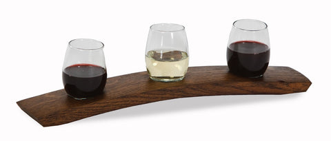 Picnic Plus PSU-742 Wine Taster Flight Wine Barrel Staves Finish