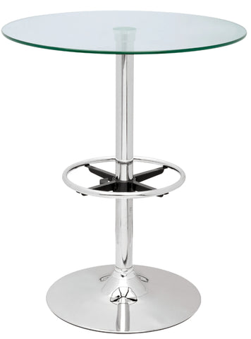 Chintaly PUB TABLE-30 Round Glass Top Pub Table