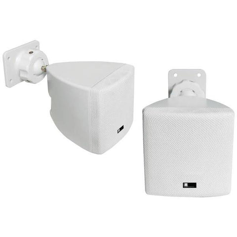 pure acoustics HT770 WH Mini Cube Speaker with Wall Bracket (White) - Peazz.com