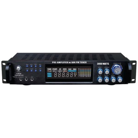 Pyle P3001AT Hybrid Amp & AM/FM Tuner (3,000 Watt) - Peazz.com