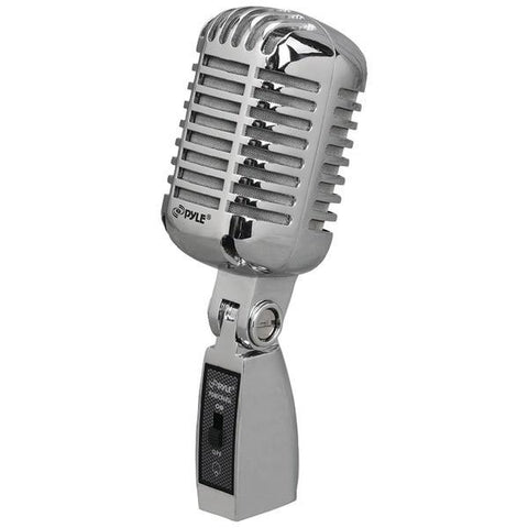 Pyle PDMICR68SL Classic Die-Cast Metal Retro-Style Dynamic Vocal Microphone - Peazz.com