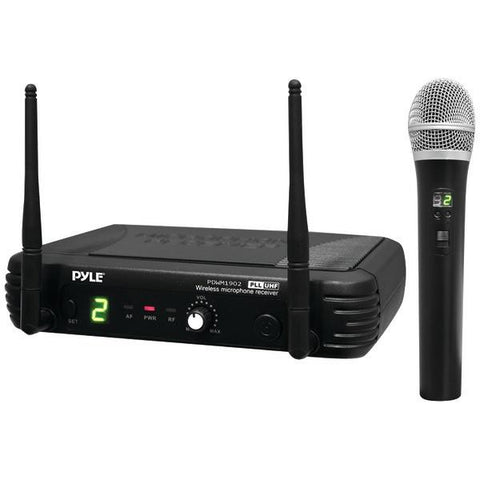 Pyle PDWM1902 Premier Series Professional UHF Wireless Handheld Microphone System with Selectable Frequencies - Peazz.com