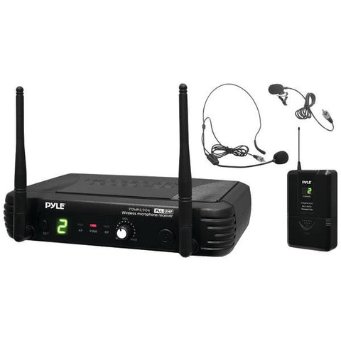Pyle PDWM1904 Premier Series Professional UHF Wireless Body-Pack Transmitter Microphone System - Peazz.com