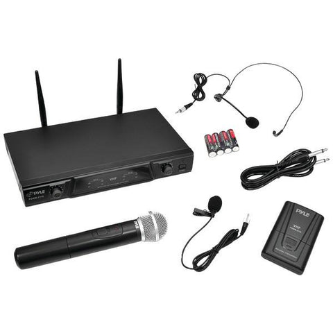 Pyle PDWM2115 VHF Wireless Microphone Receiver System with Independent Volume Control - Peazz.com