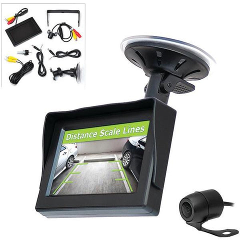 "Pyle PLCM44 4.3"" LCD Monitor System & Backup Camera with Parking/Reverse Assist - Peazz.com"