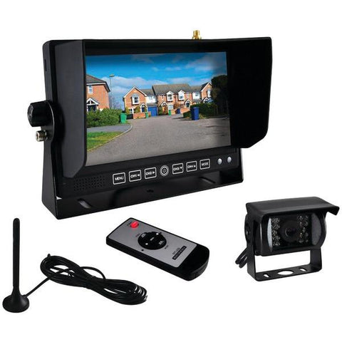 "Pyle PLCMTR82WIR 7"" Commercial-Grade Wireless Weatherproof Backup Camera & Monitor System - Peazz.com"
