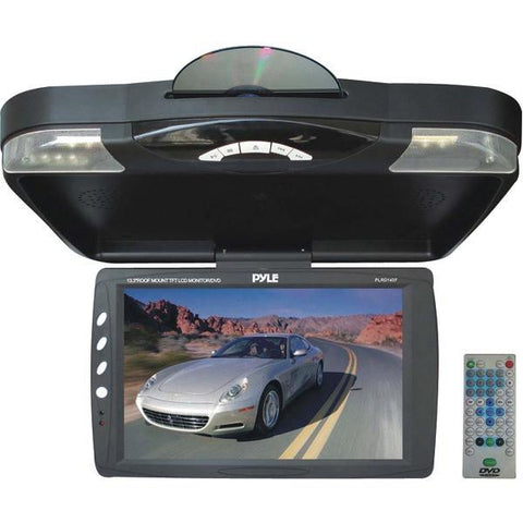 "Pyle PLRD143F 13.3"" Ceiling-Mount LCD Monitor with DVD Player & IR Transmitter - Peazz.com"