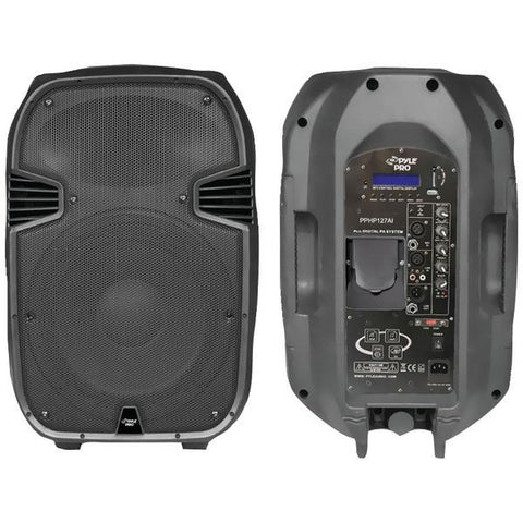 Pyle PPHP127AI 1,200-Watt Powered 2-Way Full Range PA Speaker with iPod Dock - Peazz.com