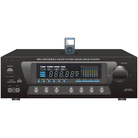 Pyle Home PT270AIU 30-Watt Stereo AM/FM Receiver with iPod Dock - Peazz.com