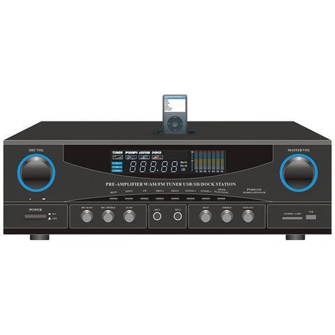 Pyle Home PT4601AIU 500-Watt Stereo Receiver with iPod Dock - Peazz.com