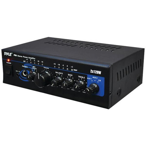 Pyle Home PTA4 120-Watt x 2 Mini Stereo Power Amp - Peazz.com