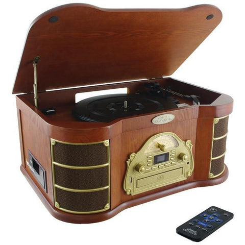 Pyle Home PTCD54UB Bluetooth Vintage Style Turntable - Peazz.com