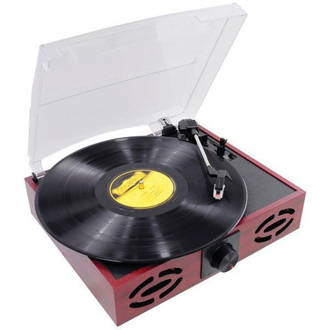 Pyle PVNT7U Classic Vintage Retro-Style Turntable with Vinyl to MP3 Recording - Peazz.com