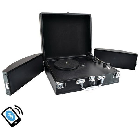 Pyle Home PVTTBT8BK Bluetooth Classic Turntable with Vinyl to MP3 Recording - Peazz.com