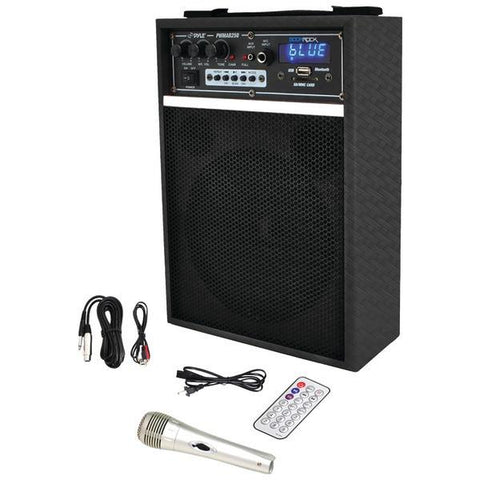 "Pyle PWMAB250BK 300-Watt Bluetooth 6.5"" Portable PA Speaker System - Peazz.com"
